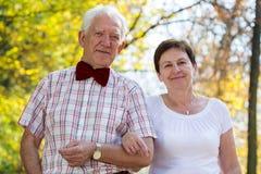 资深婚姻夫妇画象  免版税库存照片