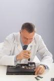 资深技术员Repairng膝上型计算机 库存照片