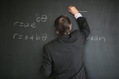 资深男老师教的数学 免版税图库摄影
