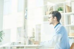 资讯科技专业编制程序在办公室 库存照片