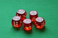 赌博切成小方块 库存图片