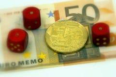 赌博和损失通过投资在cryptocurrencies Bitcoin/Ethereum 图库摄影