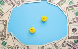 赌博和金钱 图库摄影