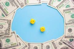 赌博和金钱 免版税库存图片