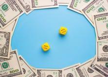 赌博和金钱 库存照片