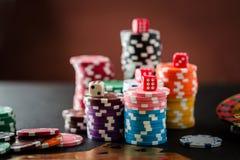 赌博在赌博娱乐场的轮盘赌的赌轮 免版税库存图片