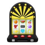 赌博在黑戏剧机器对象 图库摄影