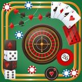 赌博娱乐场党题材 免版税库存照片