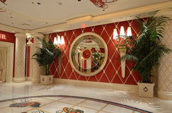 赌博娱乐场内部 免版税库存照片