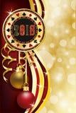 赌博娱乐场啤牌圣诞节芯片,新的2018年 皇族释放例证