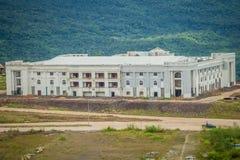 赌博娱乐场在崇公Arn Ma,泰国柬埔寨过境的新度假旅馆大厦(称Ses在柬埔寨)相对于Ubon 免版税库存照片