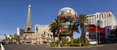 巴黎赌博娱乐场在拉斯维加斯,内华达 免版税库存图片