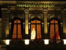 赌博娱乐场大厦细节在夜之前 图库摄影