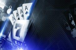 赌博娱乐场拷贝空间背景 库存照片