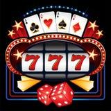 赌博娱乐场机器 皇族释放例证