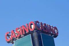 赌博娱乐场标志 库存照片