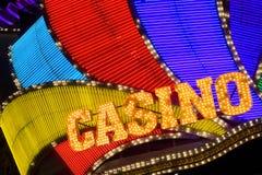 赌博娱乐场标志 免版税库存照片
