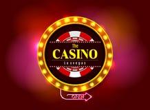 赌博娱乐场标志 向量例证