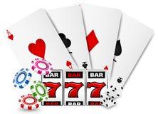 赌博娱乐场横幅 向量例证