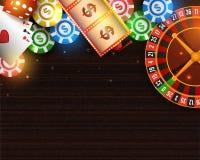 赌博娱乐场海报、横幅或者飞行物设计 向量例证