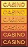 赌博娱乐场电灯泡被阐明的标志 免版税库存照片