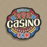 赌博娱乐场的传染媒介商标 皇族释放例证