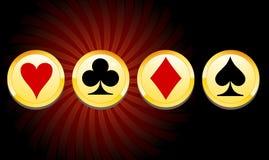 赌博娱乐场的筹码 向量例证
