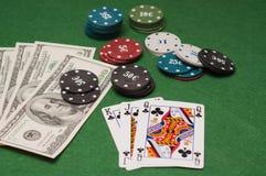 赌博娱乐场的筹码 库存图片