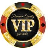 赌博娱乐场的VIP横幅 免版税库存照片
