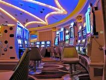 赌博娱乐场老虎机,拉斯维加斯 免版税库存照片