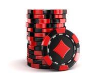 赌博娱乐场芯片堆 免版税图库摄影