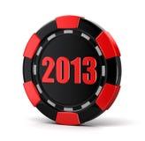 赌博娱乐场芯片2013年(包括的裁减路线) 库存图片