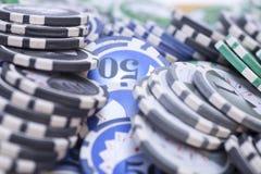 赌博娱乐场芯片-赌博的概念 免版税图库摄影