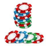 赌博娱乐场芯片 免版税图库摄影