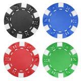 赌博娱乐场芯片 库存照片