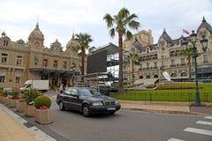 赌博娱乐场蒙特卡洛和旅馆de巴黎在蒙地卡罗,摩纳哥 免版税库存照片