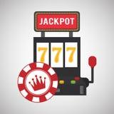 赌博娱乐场设计 比赛和拉斯维加斯例证 免版税图库摄影