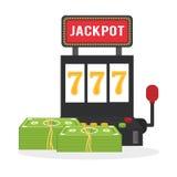 赌博娱乐场设计 比赛和拉斯维加斯例证 库存图片
