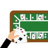 赌博娱乐场设计 比赛和拉斯维加斯例证 免版税库存照片