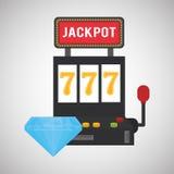 赌博娱乐场设计 比赛和拉斯维加斯例证 库存照片