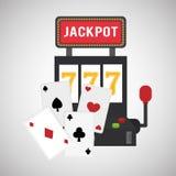 赌博娱乐场设计 比赛和拉斯维加斯例证 图库摄影