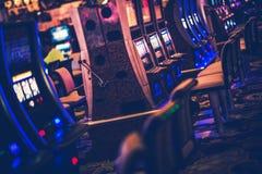 赌博娱乐场赌博的机器 免版税图库摄影