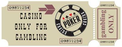 仅赌博娱乐场赌博的 皇族释放例证