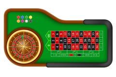 赌博娱乐场轮盘赌桌股票传染媒介例证 皇族释放例证