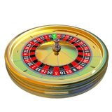 赌博娱乐场轮盘赌的赌轮 免版税库存照片