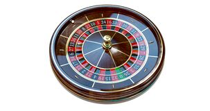 赌博娱乐场轮盘赌的赌轮 免版税库存图片