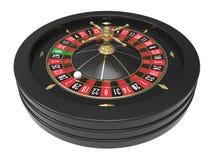 赌博娱乐场轮盘赌的赌轮 库存图片