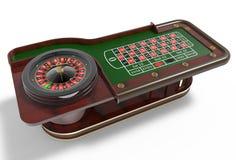 赌博娱乐场轮盘赌的赌轮3D回报 库存照片