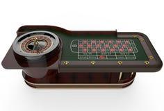 赌博娱乐场轮盘赌的赌轮3D回报 免版税库存照片