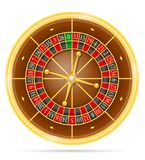 赌博娱乐场轮盘赌股票传染媒介例证 向量例证